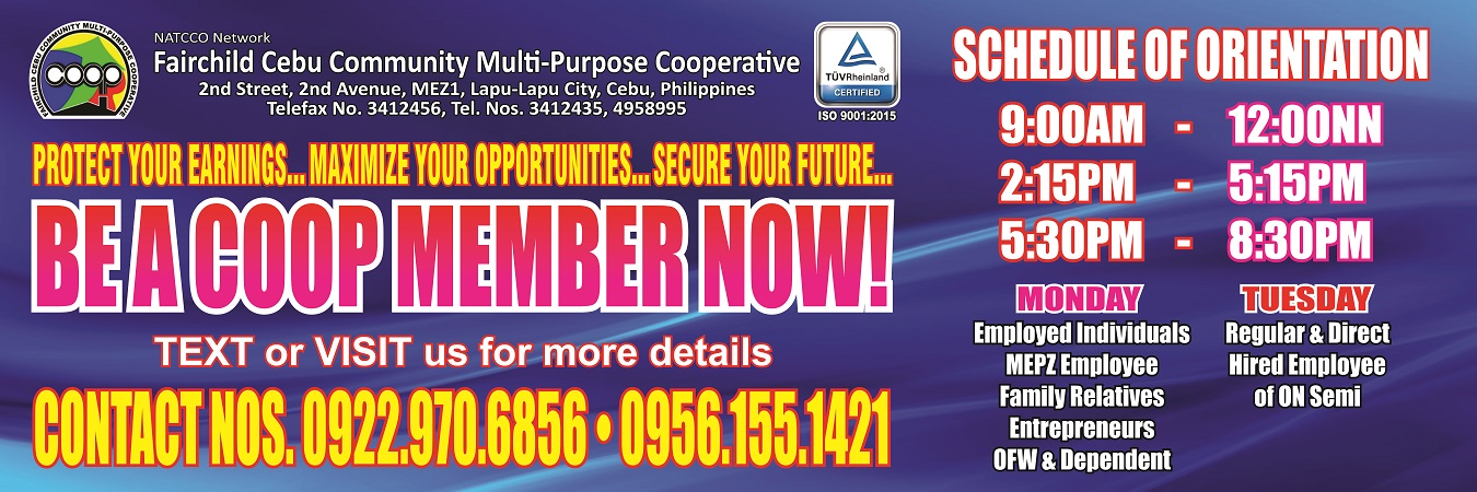 BE A COOPERATIVE MEMBER NOW!