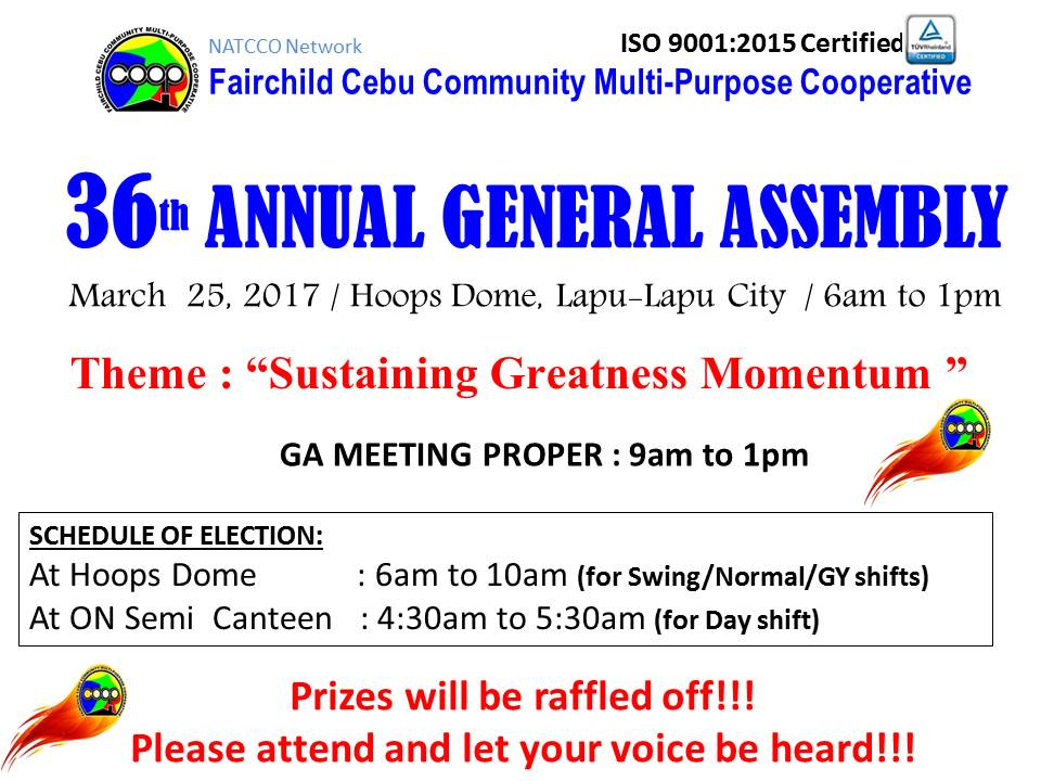 36th ANNUAL GENERAL ASSEMBLY & ELECTION