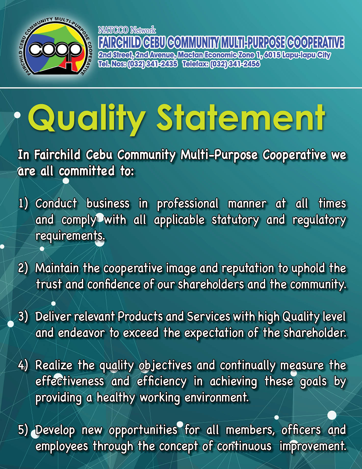 FCCMPC's Quality Statement!