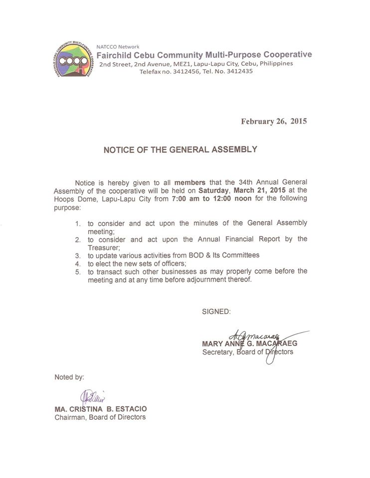 34th Annual General Assembly, Election for FCCMPC BOD & COMMITTEE Officers