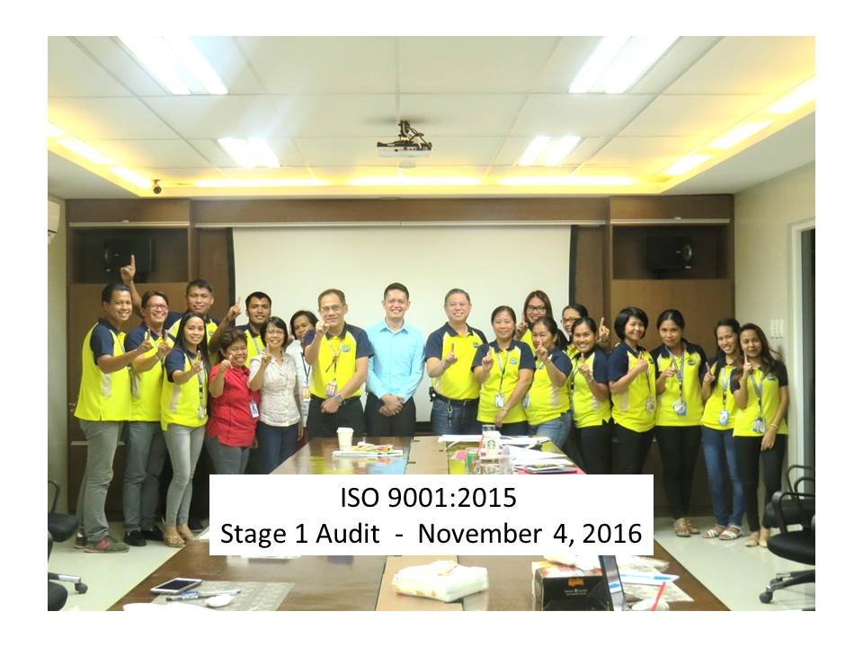 ISO 9001:2015 Certification Audit!