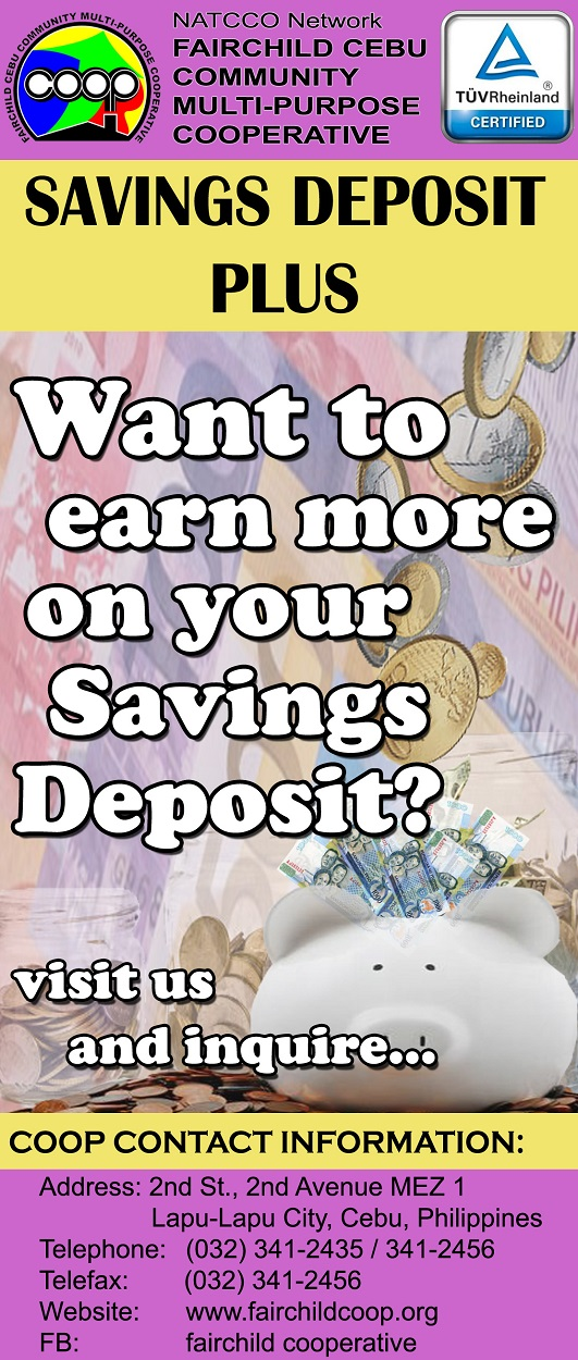 <b> Savings Deposit Plus </b>