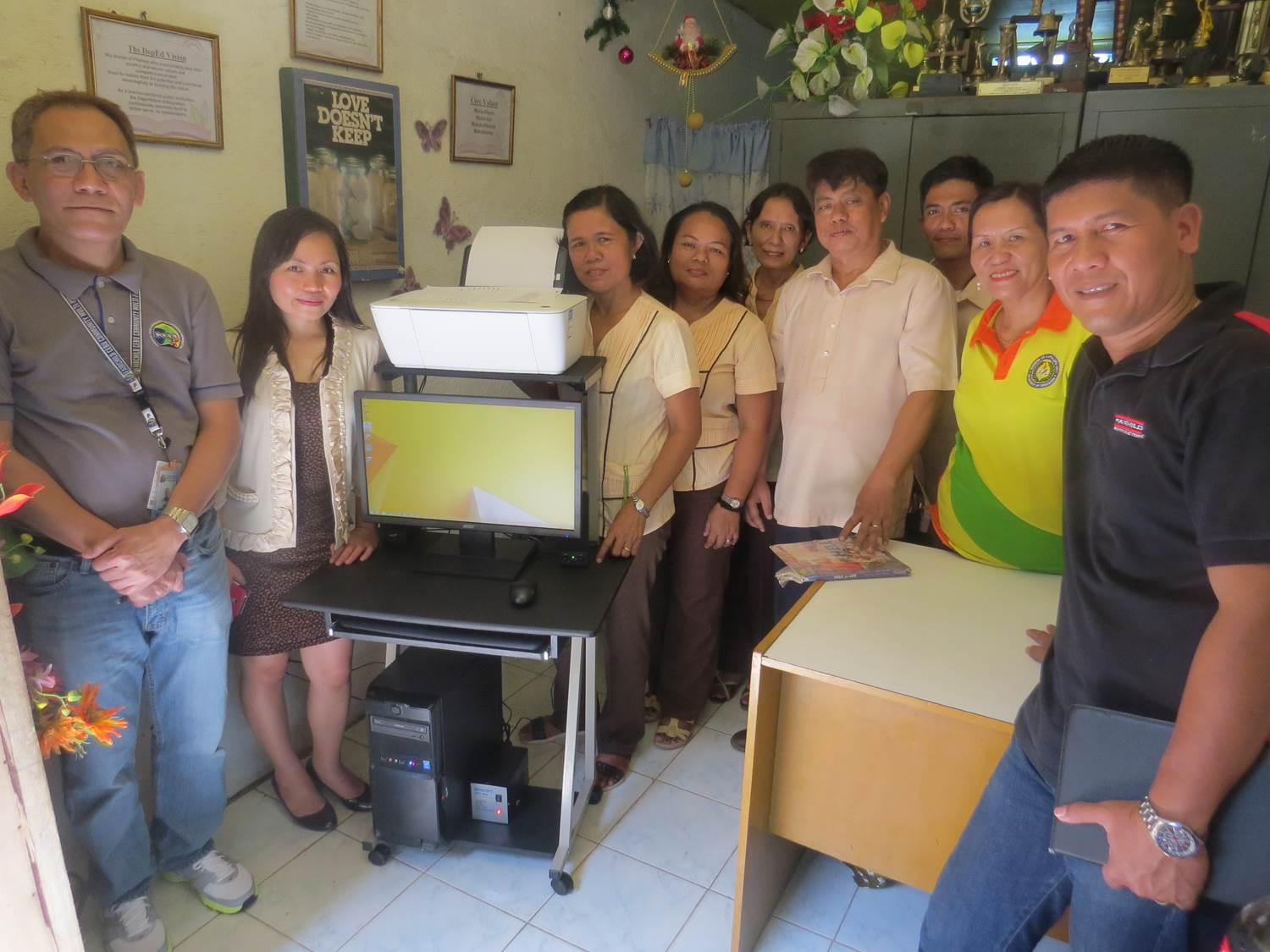 Community Outreach - Donation to Pusok Elementary School